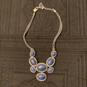 Chico's navy and silver necklace